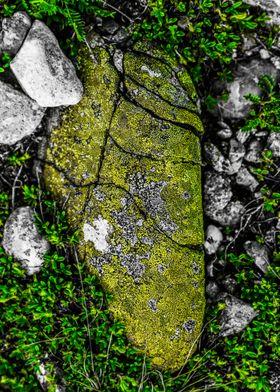 Cracked stone