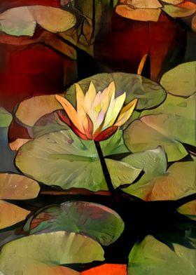 Yellow Lotus Lily Pads