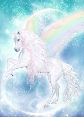 Rainbow Pegasus Unicorn