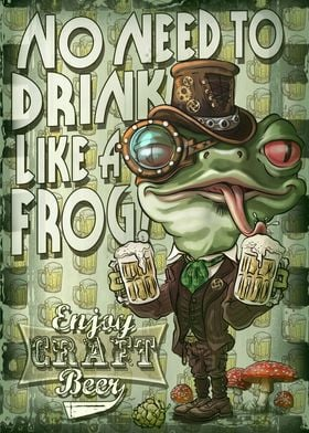 Craft Beer Frog