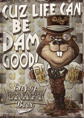 Retro Beer Beaver
