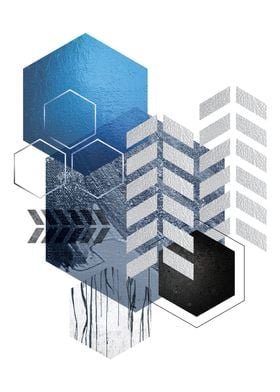 Blue Geometrica