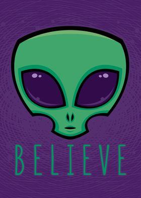 Believe Alien Head