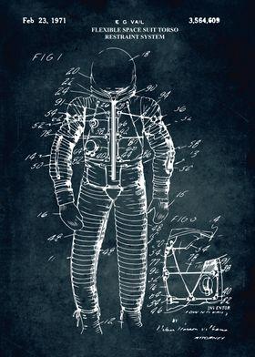 No406 Flexible space suit