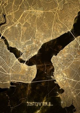 istanbul map gold