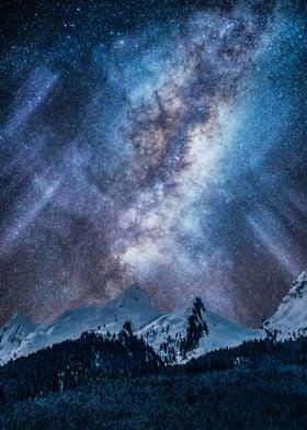 Milky way at night