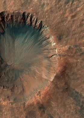 Mars Sirenum Fossae Crater