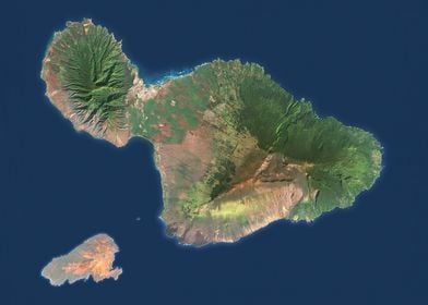 Maui Satellite Map