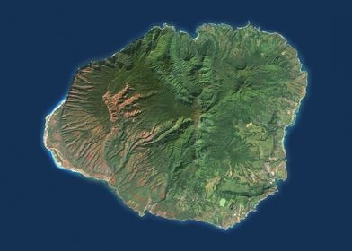 Kaui Satellite Map