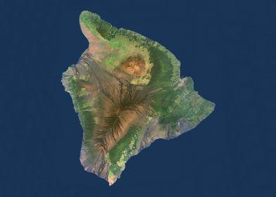 Hawaii Satellite Map
