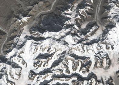 Denali Satellite Map