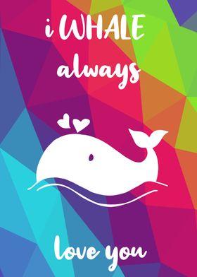 Rainbow Cute Whale 23