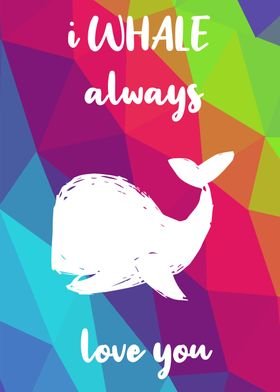 Rainbow Cute Whale 3
