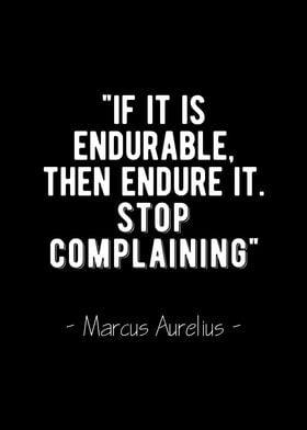 Endure It Stoic Quote