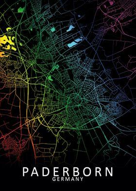 Paderborn Germany City Map