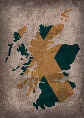 Scotland Country Flag Map