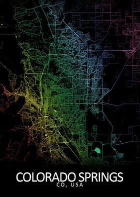 Colorado Springs USA Map