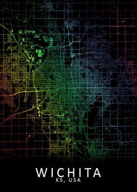 Wichita KS USA City Map