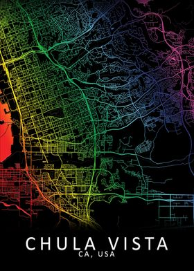Chula Vista USA City Map