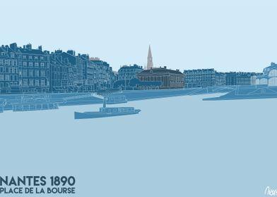 Nantes 1890 La Bourse