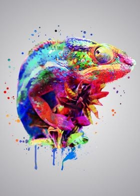 Panther Chameleon Painting