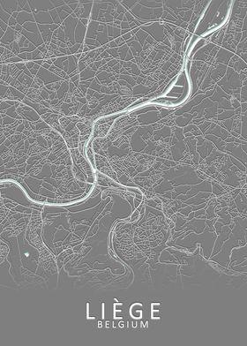 Liege Belgium City Map