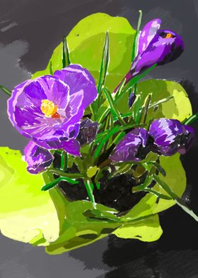 Lilac flowers Saffron