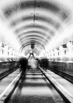 walk through the tunnel