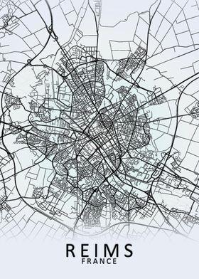 Reims France City Map