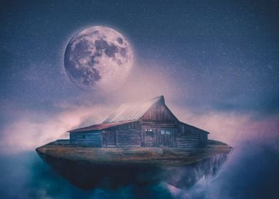 A cabin among the clouds