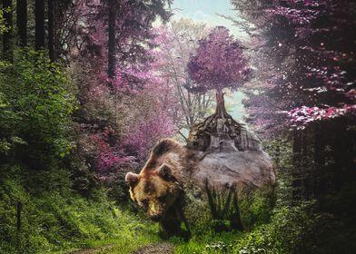 A blossoming bear
