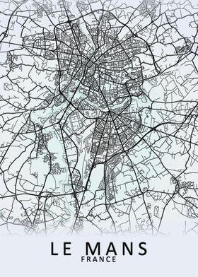Le Mans France City Map
