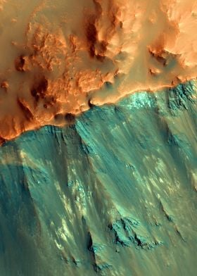 Mars Hues in a Crater