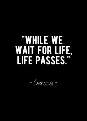 Life Passes Seneca Quote