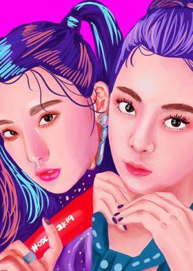 ITZY's Yeji and Lia