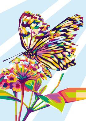 Happy Butterfly in WPAP