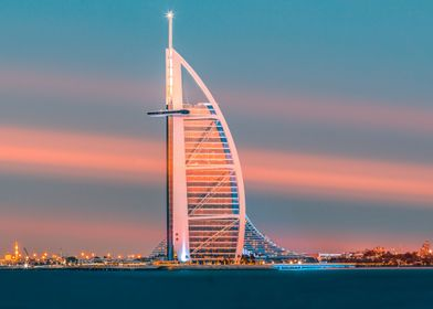 Moody Dubai Sunset