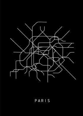Paris subway black