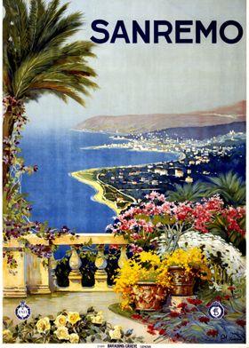 Travel Poster Sanremo