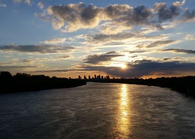 Sunset over Warsaw No1
