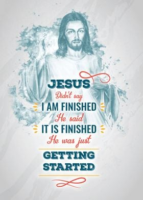 Jesus was getting started