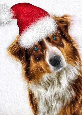 Austrailian Shepherd Santa