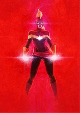 Captain Marvel Red