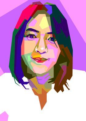 Girl On Pop Art Contemporary Art Poster Prints By Barnawi Madjiani Thahir Displate