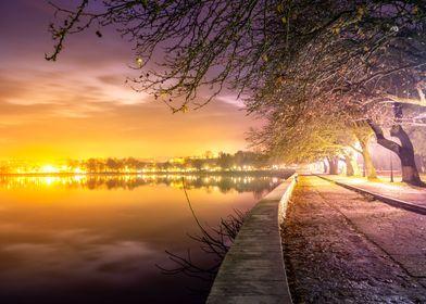 Walk on lake