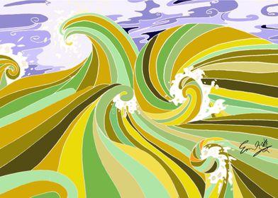Yellow Ocean Wave