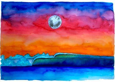 Sunset Surf Colors