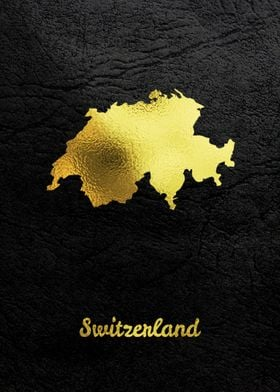 Golden Map Art Switzerland
