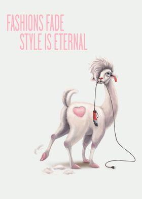 Llama Lucy Fashions fade
