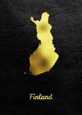 Golden Map Art Finland
